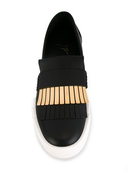 Кеды-Слипон С Бахромой Giuseppe Zanotti Design                                                                                                              чёрный цвет