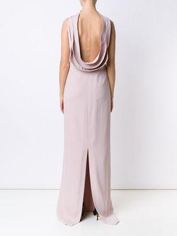 Open Back Long Dress Brandon Maxwell                                                                                                              розовый цвет