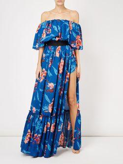 Платье С Цветочным Принтом Faith Connexion                                                                                                              синий цвет