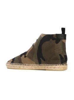 Ботинки С Камуфляжным Принтом Saint Laurent                                                                                                              зелёный цвет