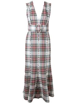 Checked Midi Dress TARO HORIUCHI                                                                                                              белый цвет