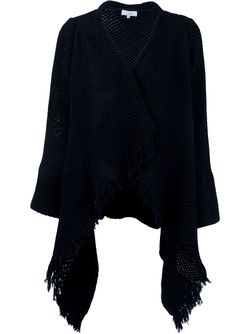 Fringed Drapey Cardigan Iro                                                                                                              чёрный цвет