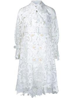 Тренч С Ажурной Вышивкой Sacai                                                                                                              белый цвет