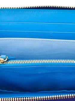Кошелек Gancini С Застежкой-Молнией Salvatore Ferragamo                                                                                                              синий цвет