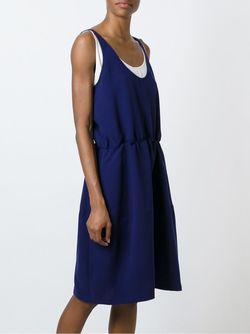 Двухслойное Платье Jil Sander Navy                                                                                                              синий цвет