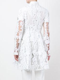 Кружевное Пальто Moncler Gamme Rouge                                                                                                              белый цвет