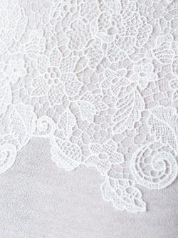 Кружевной Топ Ermanno Scervino                                                                                                              белый цвет