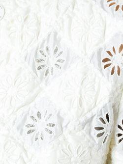 Стеганая Куртка Ermanno Scervino                                                                                                              белый цвет