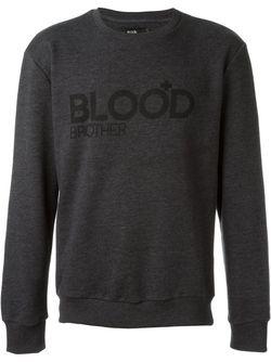 Logo Print Sweater Blood Brother                                                                                                              серый цвет