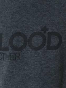 Logo Print Sweater Blood Brother                                                                                                              серый цвет