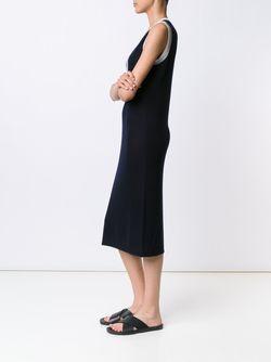 V Neck Knit Dress Gabriela Hearst                                                                                                              синий цвет