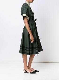 Embroidered Shirt Dress Vika Gazinskaya                                                                                                              зелёный цвет