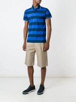 Полосатая Футболка-Поло Paul & Shark                                                                                                              синий цвет