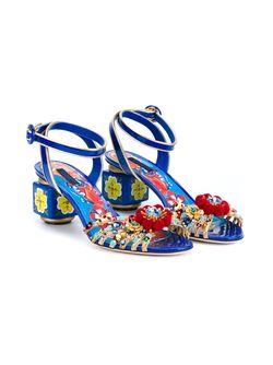 Декорированные Босоножки Dolce & Gabbana                                                                                                              синий цвет