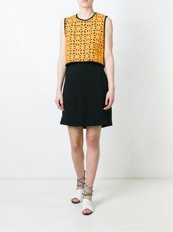 Платье С Геометрическим Узором MSGM                                                                                                              чёрный цвет