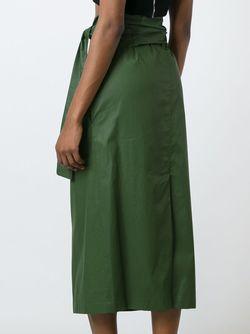 Tie Waist Skirt Erika Cavallini                                                                                                              зелёный цвет