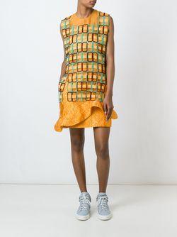 Платье С Оборками MSGM                                                                                                              желтый цвет