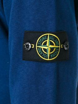 Logo Patch Sweatshirt Stone Island                                                                                                              синий цвет