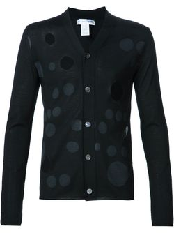 Cut-Out Dotted Cardigan Comme Des Garcons                                                                                                              чёрный цвет