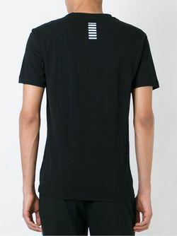 Side Logo T-Shirt EA7 EMPORIO ARMANI                                                                                                              черный цвет