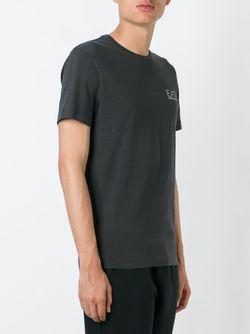 Side Logo T-Shirt EA7 EMPORIO ARMANI                                                                                                              серый цвет