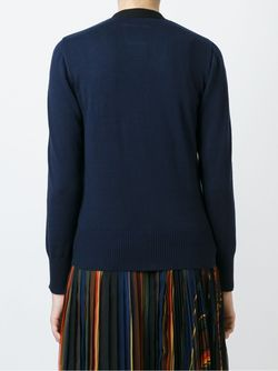 Bi-Colour Cardigan Sacai                                                                                                              черный цвет