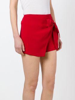 Wrapped Detail Shorts Ermanno Scervino                                                                                                              красный цвет