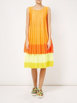 Two-Tone Pleated Dress PLEATS PLEASE BY ISSEY MIYAKE                                                                                                              красный цвет
