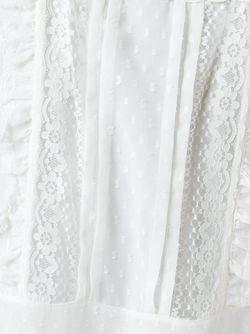 Кружевное Платье С Квадратным Вырезом Philosophy di Lorenzo Serafini                                                                                                              белый цвет