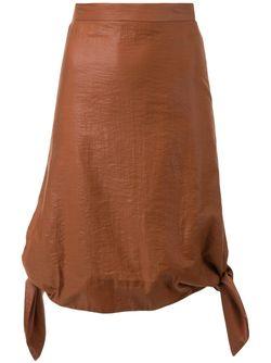 Юбка С Узлами На Подоле G.V.G.V.                                                                                                              коричневый цвет