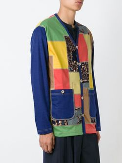 Кардиган Лоскутного Кроя JUNYA WATANABE COMME DES GARCONS                                                                                                              многоцветный цвет