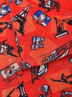 Шарф С Принтом Фотоаппаратов Kiton                                                                                                              красный цвет