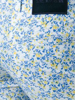 Брюки С Цветочным Узором Kiton                                                                                                              синий цвет