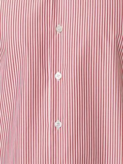 Полосатая Рубашка Kiton                                                                                                              красный цвет
