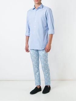 Классическая Рубашка Kiton                                                                                                              синий цвет