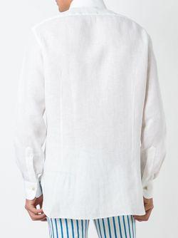 Рубашка На Пуговицах Kiton                                                                                                              белый цвет