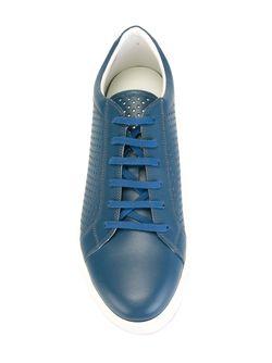 Перфорированные Кроссовки Kiton                                                                                                              синий цвет