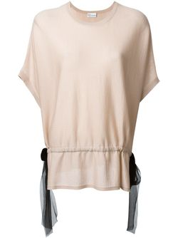 Блузка С Контрастным Поясом Red Valentino                                                                                                              розовый цвет