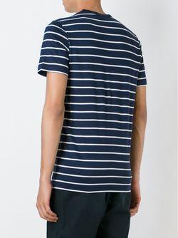 Striped T-Shirt Sunspel                                                                                                              синий цвет