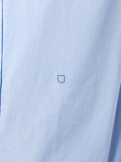 Stitch Detail Shirt Massimo Alba                                                                                                              синий цвет