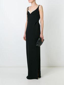 Длинное Платье С V-Образным Вырезом Marc Jacobs                                                                                                              черный цвет