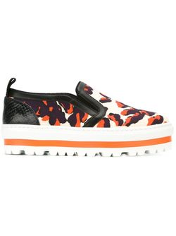Platform Slip-On Sneakers MSGM                                                                                                              многоцветный цвет