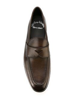 Пенни-Лоферы Santoni                                                                                                              коричневый цвет