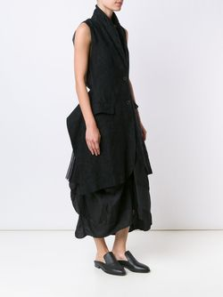 Long Jacquard Waistcoat UMA WANG                                                                                                              черный цвет