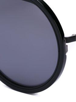 Солнцезащитные Очки С Круглой Оправой Yohji Yamamoto                                                                                                              черный цвет
