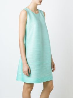Ribbed Effect Shift Dress PLEATS PLEASE BY ISSEY MIYAKE                                                                                                              зелёный цвет