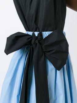 Пышная Юбка С Контрастным Бантом MSGM                                                                                                              синий цвет