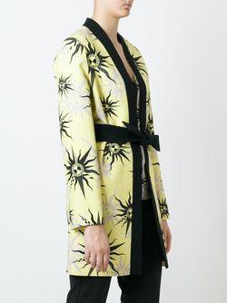 Пальто С Принтом Символов Солнца Fausto Puglisi                                                                                                              черный цвет