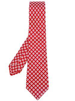 Diamond Print Tie Kiton                                                                                                              красный цвет