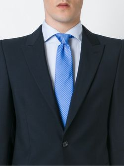 Pin Print Tie Kiton                                                                                                              синий цвет